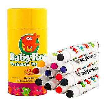 Jar Melo Marqueurs lavables -Baby Roo Roo 12 Couleurs