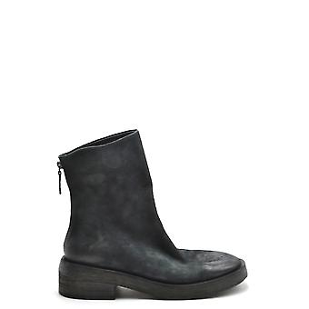 Marsell Ezbc446002 Women's Black Leather Ankle Boots
