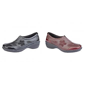 Mod Comfys Womens/dames Floral Suede instapper schoen