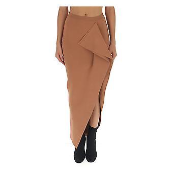 Rick Owens Ro19f5683kst173 Women's Beige Viscose Skirt