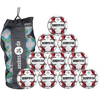 10 x balle d'entraînement DERBYSTAR - DYNAMIC TT incl. ball bag