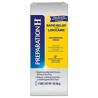 Preparation h hemorrhoidal cream rapid relief, 1 oz
