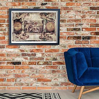 Michelangelo - Capela Sistina seção 7 Poster impressão giclée