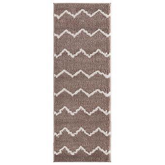 31& x 86& x 1.2&beige mikrokuituliina polyesteri runner matto