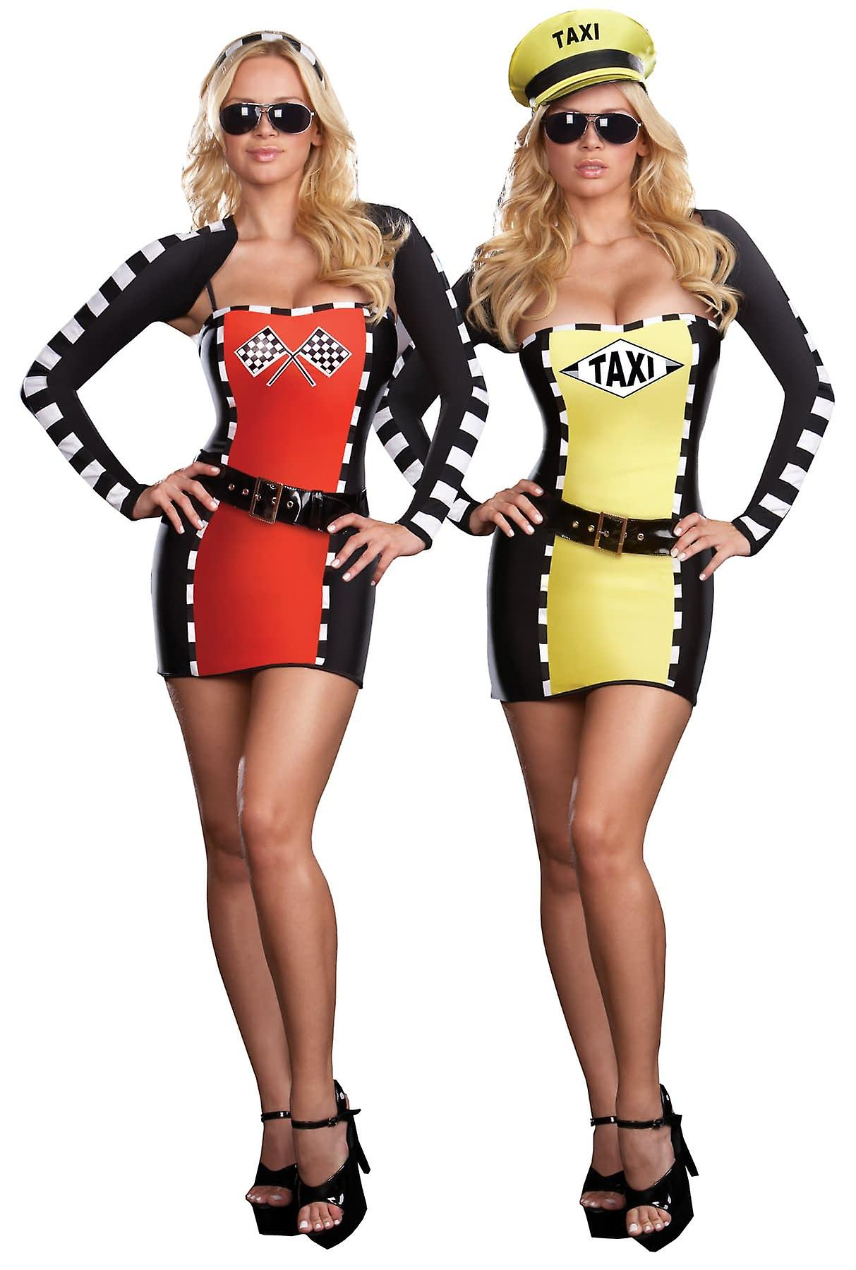 Women's adult pit stop race crew costume