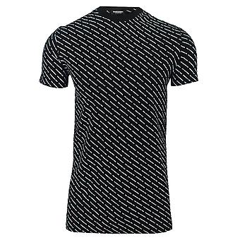 Dsquared2 men's black all over print underwear t-shirt