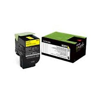 Lexmark 808Xye Yellow Extra High Yield Corporate Toner Cartridge 4K