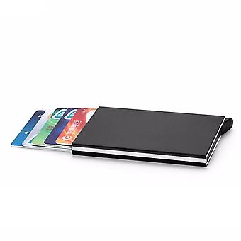 Custodia per scheda in alluminio con segnale di blocco RFID - nero