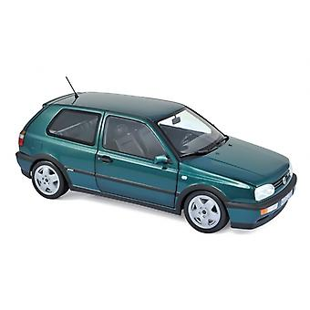 VW Golf VR6 (1996) in Green (1:18 scale by Norev 188437)