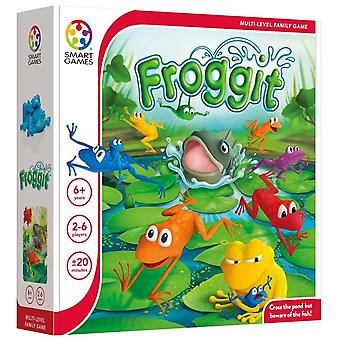 smartgames froggit 2-6 persons multi-player family game with game board and