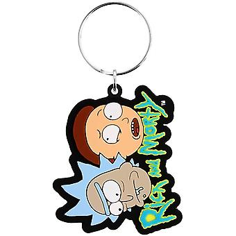 Rick and Morty Nyckelring Gummi 6cm