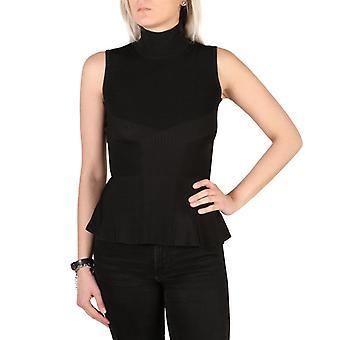 Woman sleeveless turtleneck neckline sweater g71543