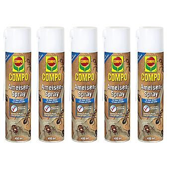 Sparset: 5 x COMPO Ants Spray, 400 ml
