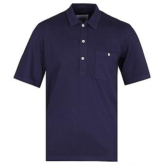 Albam Cotton Navy Pullover Short Sleeve Shirt
