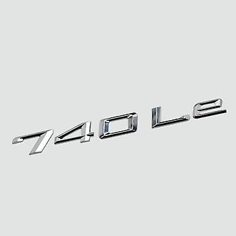 Silver Chrome 740Le Car Model Rear Boot Number Letter Sticker Decal Badge Emblem For 7 Series