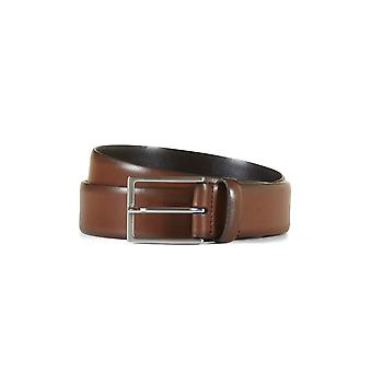 Leather belt nathan brown