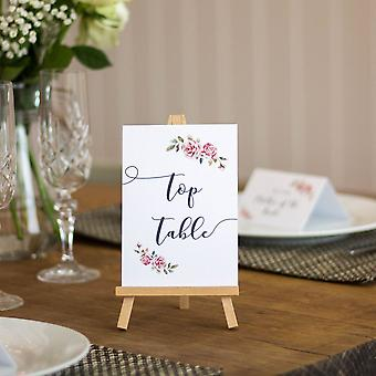 White Boho Table Numbers Top Table 1 - 15 Single Card Wedding