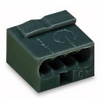 Skruv terminal styv: -0,8 mm² antal stift: 4 WAGO 1 dator mörkgrå