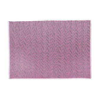 Hug Teppich gewebt Fischgrät Koralle rosa Rechteck Teppiche moderne Teppiche