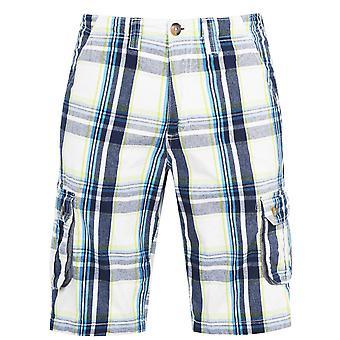 SoulCal Mens Check Cargo Shorts Bottoms Bouton Fixation 6 Poches
