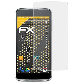 atFoliX Glass Protector compatible with Alcatel One Touch Idol 3 (4.7) 9H Hybrid-Glass