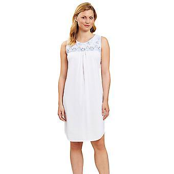 Rösch 1203112-11698 Ženy&s Nová Romance Bílá Modrá Tisk Noční košile