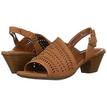 Easy Street Women's Goldie Dress Casual Sandal with Cutouts Heeled