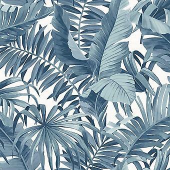 A-Street imprime solstício palm leaf papel de parede azul fina decoração FD24133