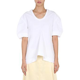 Jil Sander Jscr560706wr244200100 Women's White Cotton T-shirt