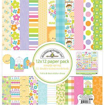 Doodlebug Design Simply Spring 12x12 Inch Paper Pack