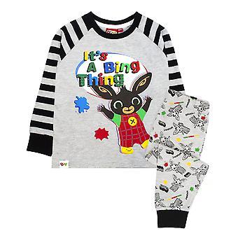 Bing Bunny Pyjamas It's A Bing Thing Cbeebies Character Boy's Long Sleeve PJs