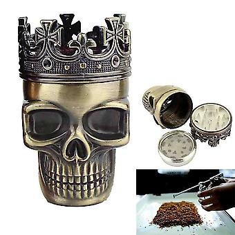 Grinder In The Shape Of A Skull - Crowned King For Spice Coffee Herbs Spices  Color: Bronze
