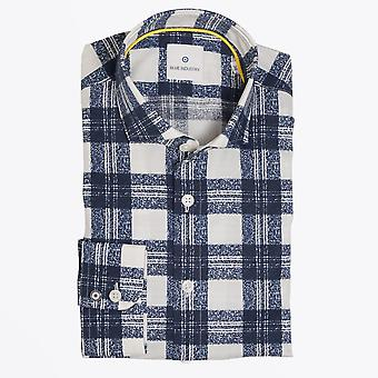 Blue Industry  - Checked Shirt - Navy/White
