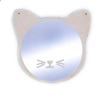 Wood Frame Decorative Mirror - Nordic Crown Cloud Stars Cat Acrylic