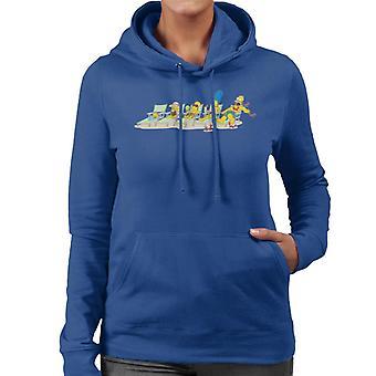The Simpsons Family Sunbeds Women's Hooded Sweatshirt
