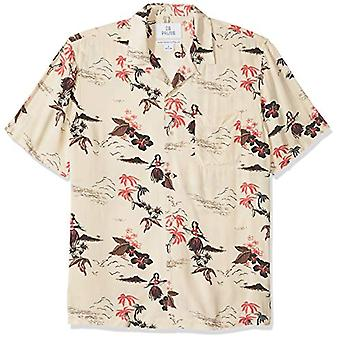 28 Palms Men's Standard-Fit Vintage Washed 100% Rayon Tropical Hawaiian Shirt...