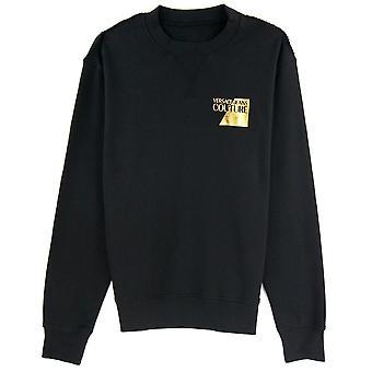 Versace Jeans Couture Sweatshirt Foil Logo Chest Noir