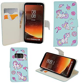 "Samsung Galaxy S8 - Plånboksfodral - ""rosor"""