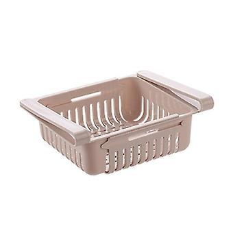 Organisateur de réfrigérateur de cuisine rétractable - Glisser sous l'économie d'espace de rack d'étagère