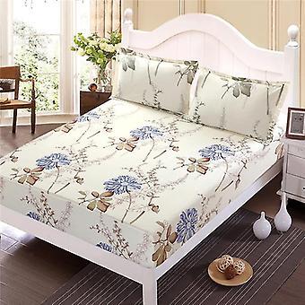 Einfache moderne gedruckte Bettwäsche ausgestattet Blatt und Kissenbezug Sets