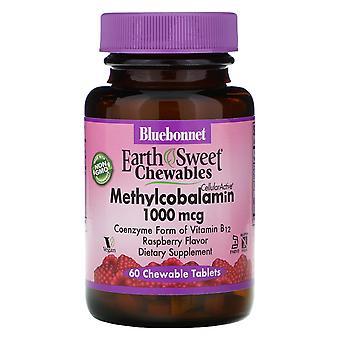 Bluebonnet Nutrition, EarthSweet Chewables, Methylcobalamin, Natural Raspberry F