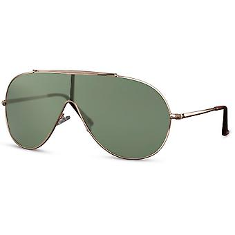 النظارات الشمسية الرجال الطيار الرجال كات. 3 الذهب / الأخضر