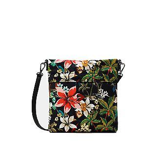 Desigual Kea Kemi Bag Canvas Tropical Floral Cross Body 20WAXADT