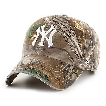47 Brand Adjustable Cap - CLEANUP New York Yankees real tree