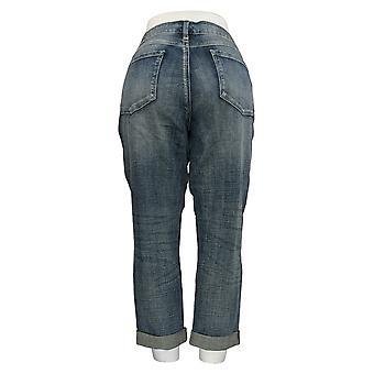 Laurie Felt Women's Jeans Classic Denim Cropped Weekender Blue A367030