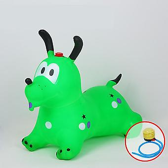Kuulee Kid Inflation Horse Hopper Stable Plastics Baby Thicken Horse Riding Jumping Child Kangoo Jumper