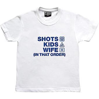 Scatti bambini moglie (in questo ordine) bambini bianchi ' T-Shirt