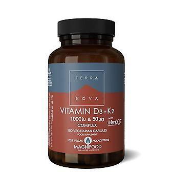 Terranova Vitamiini D3 1000 IU injektiokuiva kanssa K2 100ug kapselit 100 (T0592)