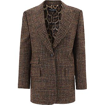 Dolce E Gabbana F29hqtfqmh8s8100 Frauen's braune Wolle Blazer
