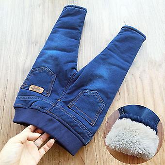 Winter Baby Warm Jeans- Casual Thicken Plus Velvet Straight Denim Pants 1-6yrs